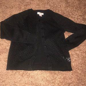 Other - Little girls black sparkly cardigan